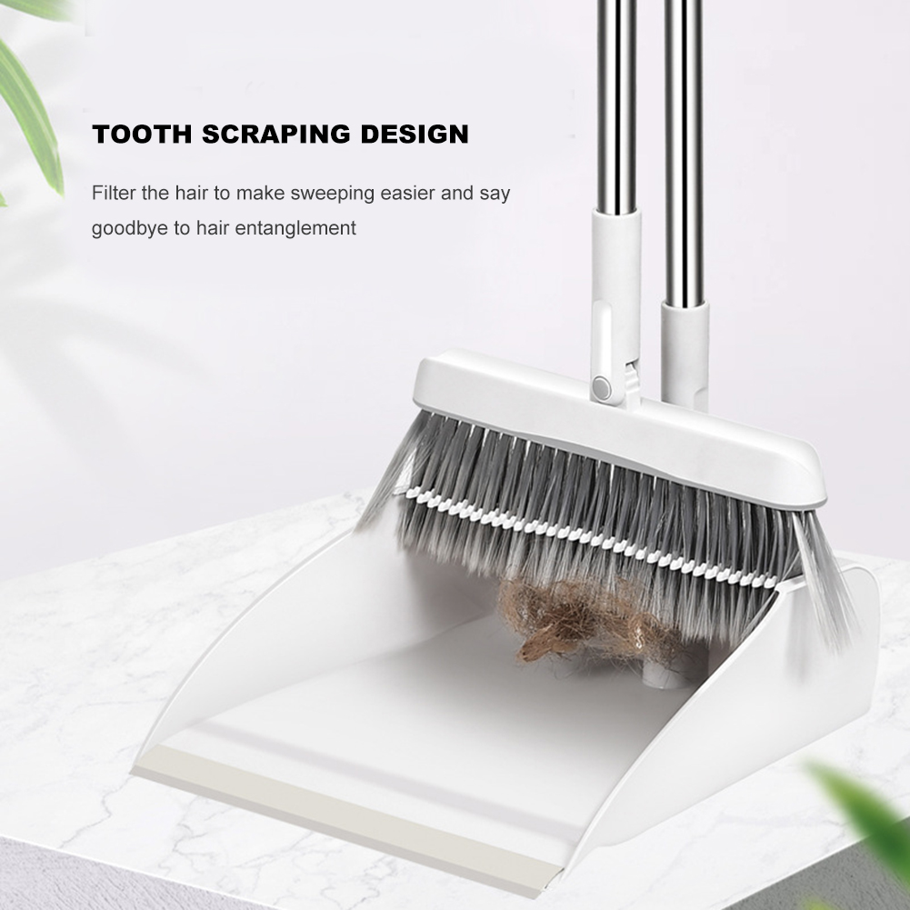 Trustful Detachable Plastic Dustpan Set Rotary Upright Dust Pan With Broomstick Floor Cleaning Folding Standing Brush Broom Distinctive For Its Traditional Properties