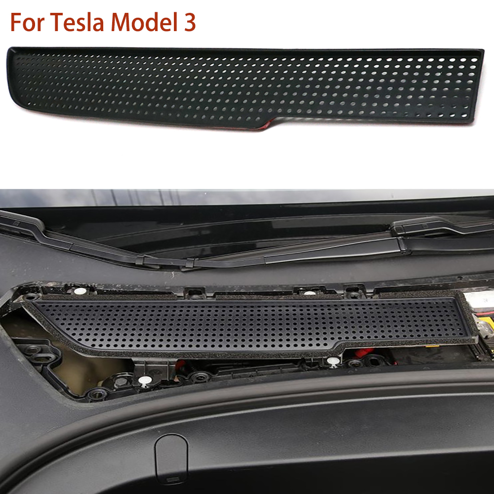 Air Intake Filter Air Flow Vent Protection Frame Cover For Tesla Model 3 2017-2019 Air Inlet Grille Cover
