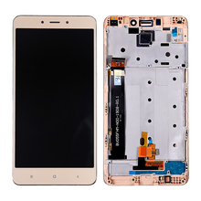 цена на 100% Tested  LCD With Frame For Xiaomi Redmi Note 4 LCD Display Digitizer Screen Touch Panel Sensor Assembly Hongmi Note4 LCD