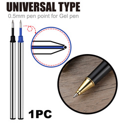 1pc Wholesale imported ink pen refills 0.5mm water refill black orbs blue metal refill