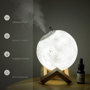 880ml Moon Aroma Humidifier Essential Oil Diffuser Air Purifier Ultrasonic Mist Humidifier For Home&Office Aromatherapy цена 2017