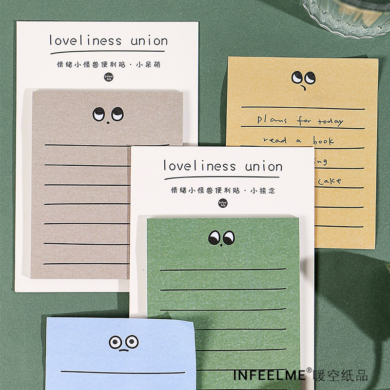30 Pcs/set Sticky Notes Cute Cartoon Expression Memo Pad Planner Stickers Memo Paper Kawaii Stationery Office School Supplies
