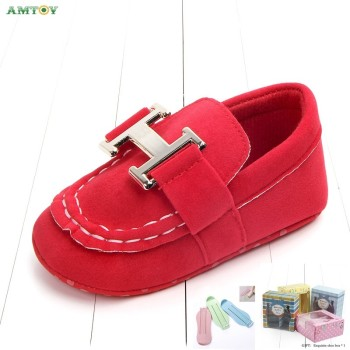 AMTOY Unisex Baby Boys Girls Shoes Soft Anti-slip Sole Newborn Infant First Walkers Shoes 0-3-6-12-18 Months Skin Friendly Hlogo image