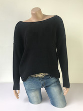 womens sweaters loose sweater Fashion Women Winter Batwing Sleeve Solid Knitted Sweater Pullover Tops Blouse Y828