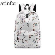 Водонепроницаемый женский рюкзак с цветочным принтом