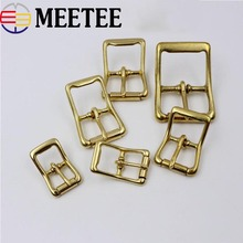2Pcs Solid Brass Men Belt Buckles Metal Pin For Backpack Clothes Bag Strap DIY Leather Craft Garment Accessories