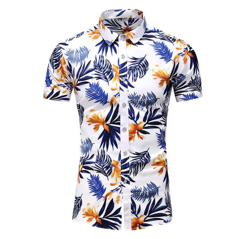 Hawaiian Shirt Kleidung 2020 Sommer Blume Druck Kurzen Ärmeln Urlaub Casual Lose Große Größe Hemd Komfortable Casual Tops