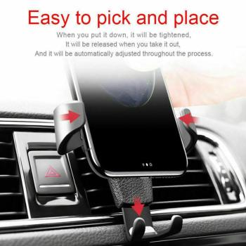Universal Adjustable Phone Holder Car Air Vent Gravity Bracket Stand In Cradle Holder Design Car Phone Mount For Phone R1Z9 image