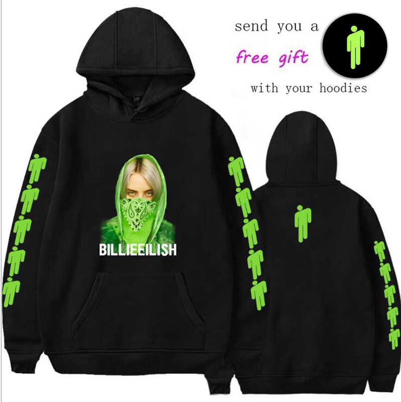 KPOP BILLIE EILISH 3d Hoodie sweatshirt men/women Pocket Hooded Sweatshirts Streetwear Hip Hop COTTON Pullover  Hoody clothes