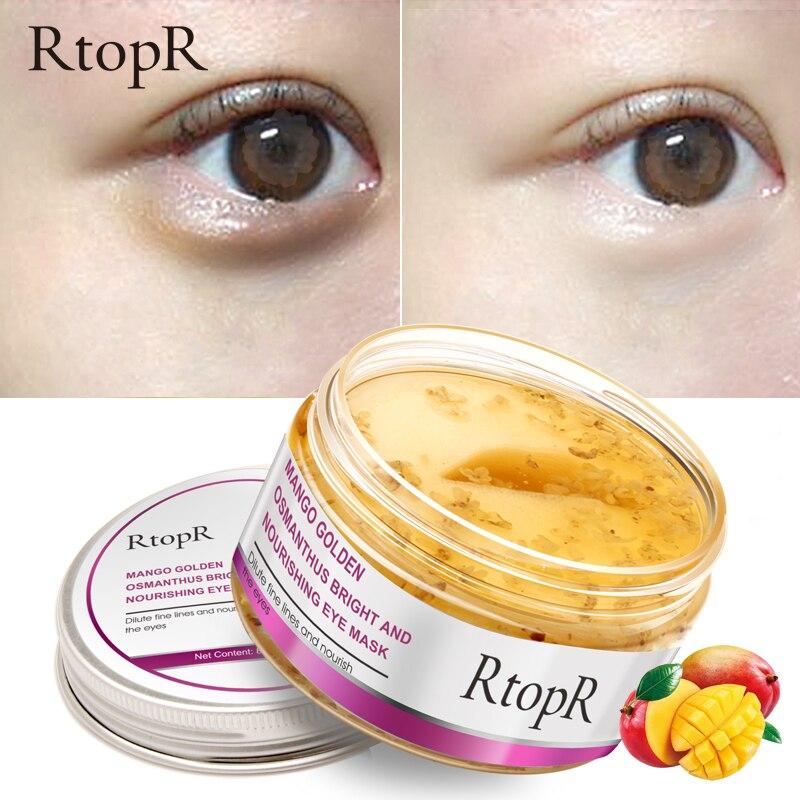 40Pcs/Box Eye Mask Golden Osmanthus Bright Nourishing Skin Care Anti-Puffiness Dark Circle Anti-Aging Treatment Mask TSLM2
