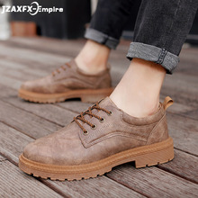 2019 New Men Martens Shoes Brogue Casual Pu Leather Work Business Sneakers