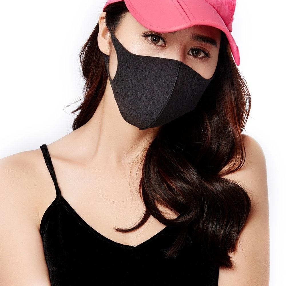 3Pcs/Set Unisex Anti-dust Solid Multi Colors Anti-allergy Sponge Earloop Face Mouth Mask Muffle