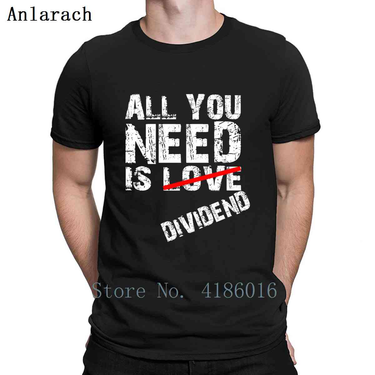 Stock Market All You Need Is Dividend T Shirt Pictures Gift Size S-5xl Create Basic Formal Cotton Spring Shirt image