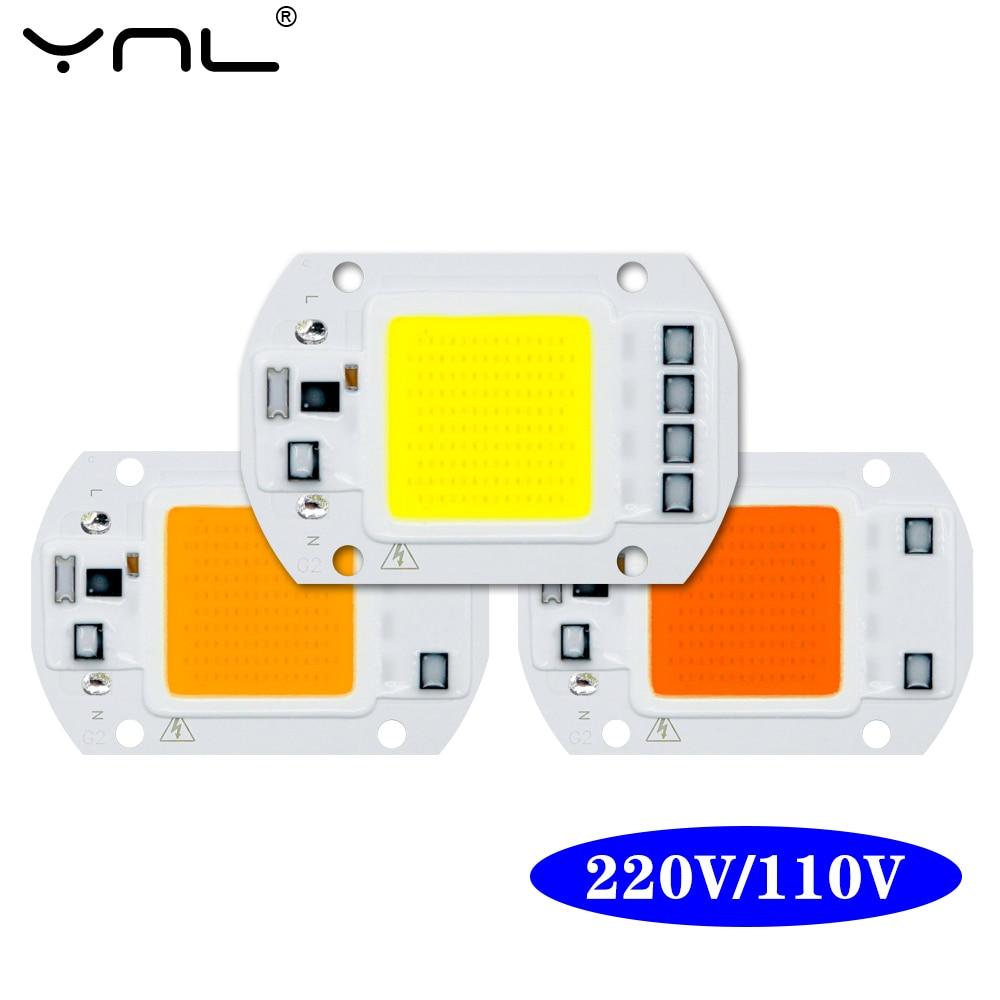 COB LED Chip AC 220V 110V 50W 30W 20W 10W Smart IC No Need Driver LED Lamp Bulb For DIY Spotlight Floodlight Chip