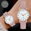 Damen Diamant-Verzierte Luminous Retro Weibliche Uhr Leder Gürtel Quarzuhr Frauen Einfachheit Casual Dekoration Armbanduhren