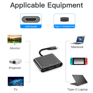 Image 5 - Type C Adapter Type C to USB 3.0 HDTV Converter PD Fast Charge Audio Video Converter Cable for Game Controller Laptop Phone