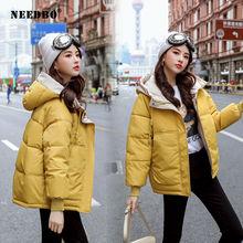 Женская зимняя куртка с капюшоном needbo 2020 парка подкладкой