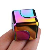 Cubo mágico giratorio de Metal para adultos, juguete para aliviar el estrés de escritorio