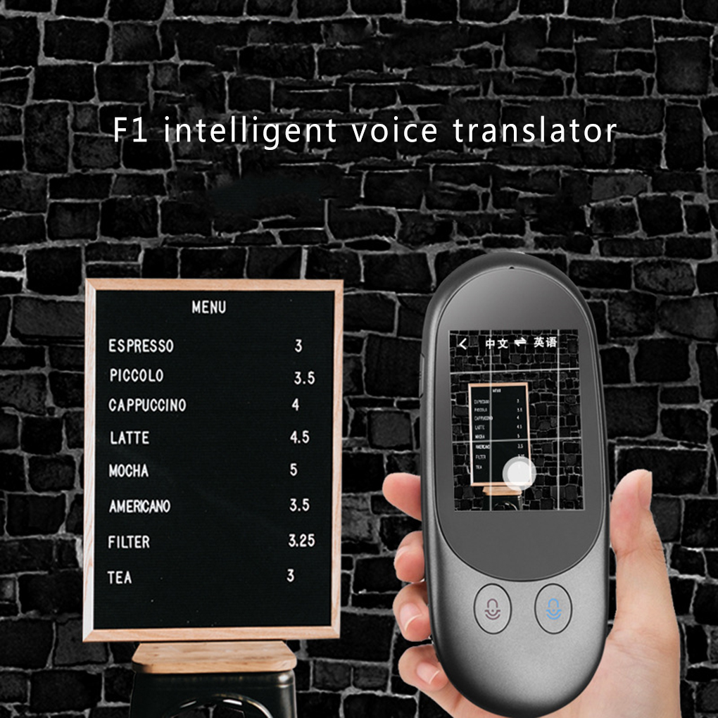 F1 Instant Voice Translator 2.4Inch Touch Screen Support 51 languages Smart offline translation Photographic Scanning Translator image