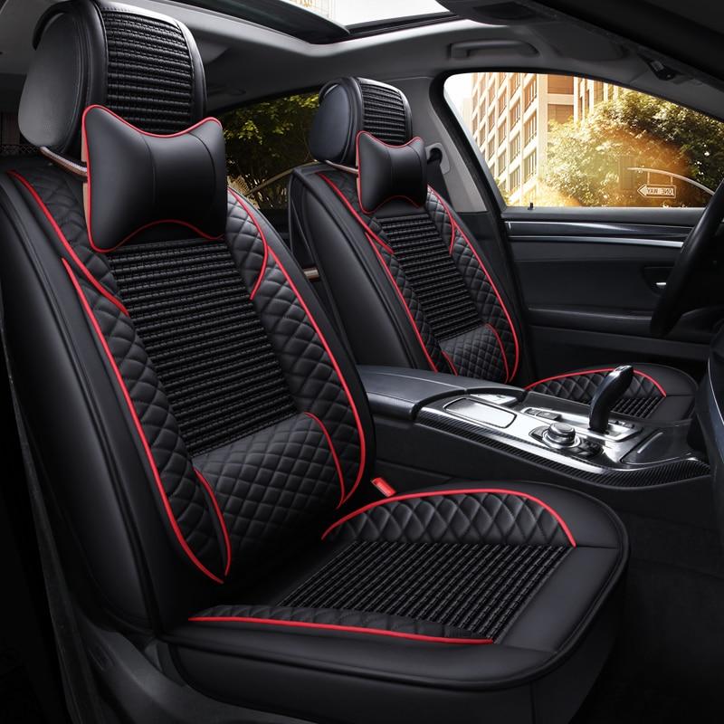 Couverture complète siège auto en cuir synthétique polyuréthane couverture fibre de lin auto housses de sièges pour geely atlas boyue emgrand x7 geeli emgrand ec7
