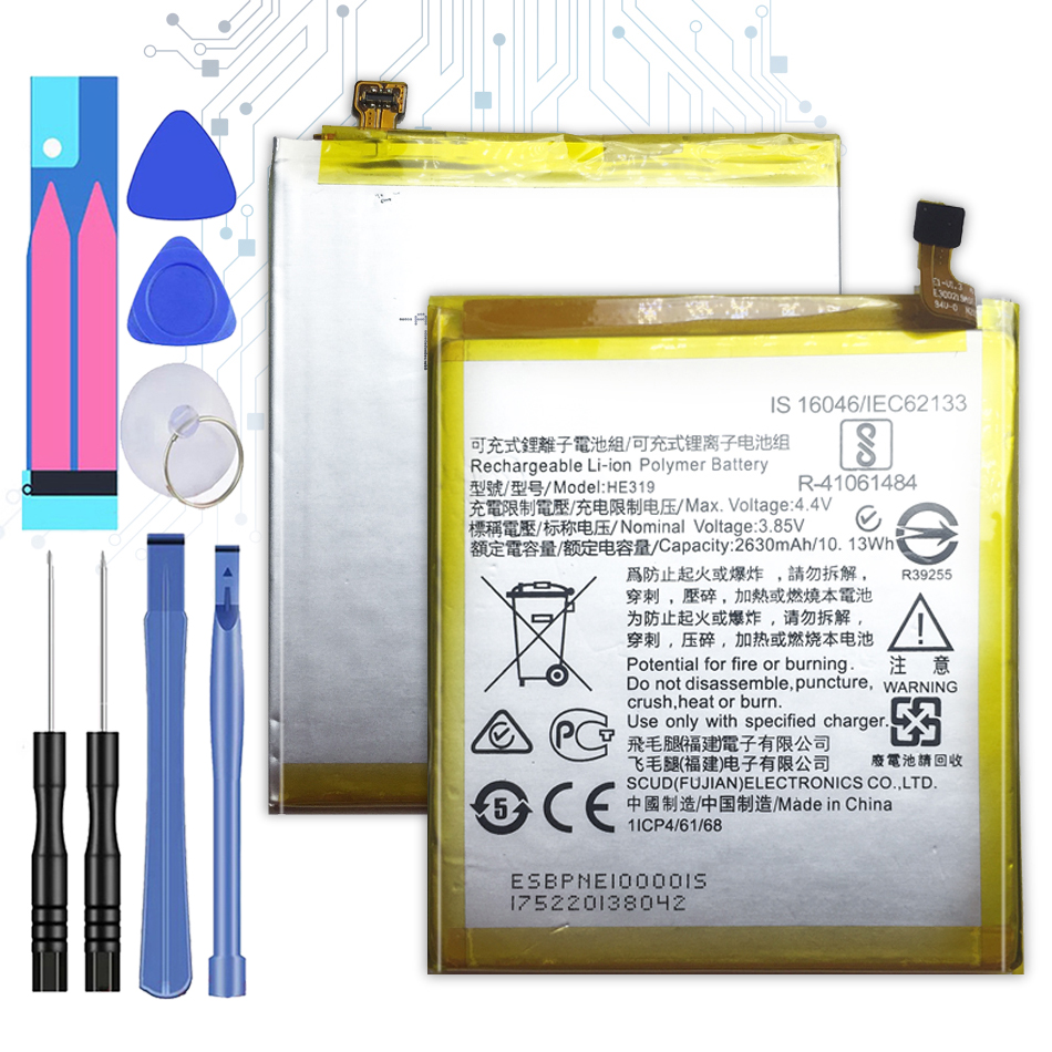 HE319 2630mAh Replacement Battery For <font><b>Nokia</b></font> <font><b>3</b></font> TA-1020 <font><b>1028</b></font> 1032 1038 HE 319 +Tracking Number image