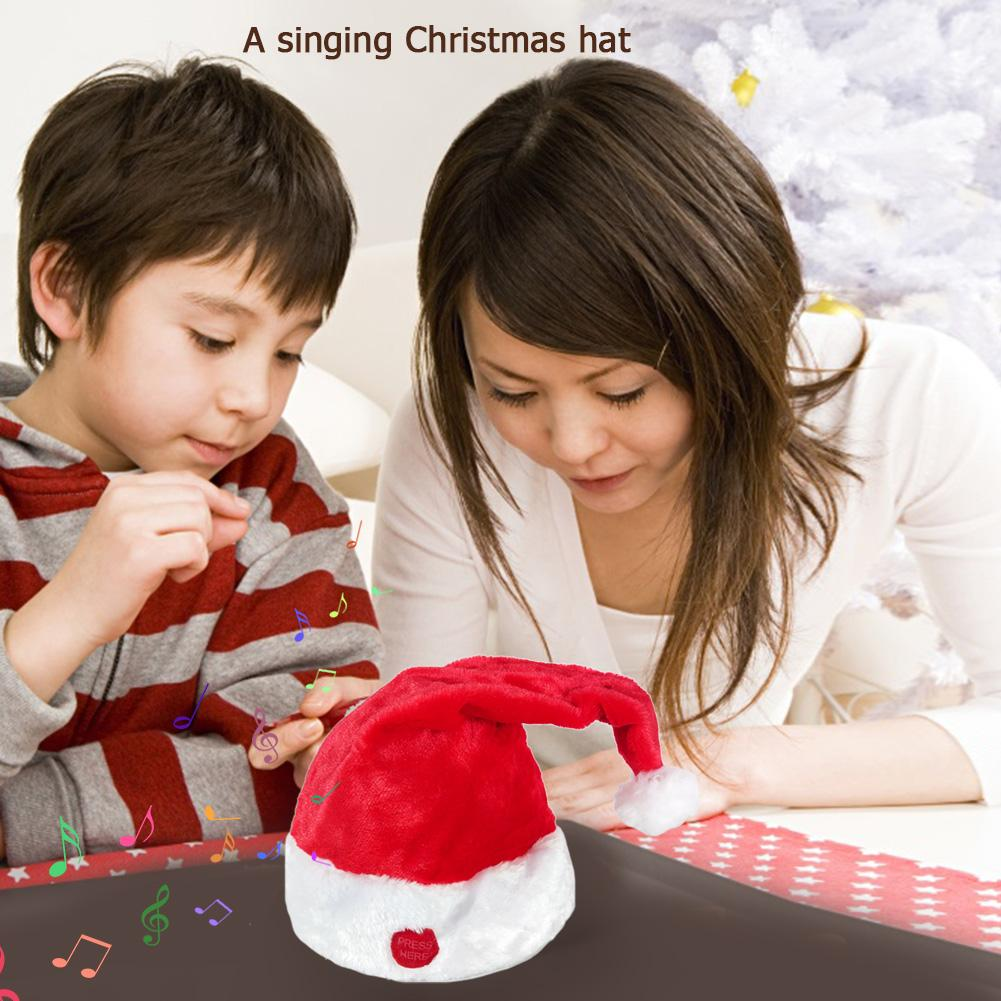 Swing Christmas Hat Electric Cap For Festival Party Props Creative Decoration Effectively Create Festival Atmosphere
