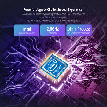 Laptop Teclast F7 Plus 2 Window 10 1920×1080 Intel Gemini Lake N4120 14.1 Inch 8GB RAM 256GB SSD Ac Dual-Band WiFi Notebook 6