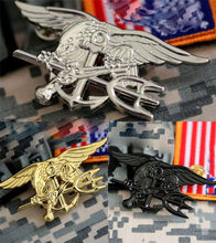 US Navy Seal Eagle Jangkar Trident Mini Medali Seragam Lambang Lencana Tentara Lencana Halloween Cosplay Prop Bros Mainan(China)