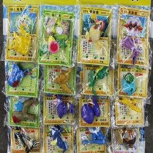 Image 3 - 24 шт./лот, шариковые фигурки, игрушки 2 6 см, шарообразные игрушки из ПВХ, мини модели с картами