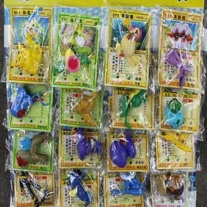 Image 3 - Lot de 24 jouets figurines balle 2 6cm, Mini modèle avec cartes, boule karizard Eevee Bulbasaur Suicune