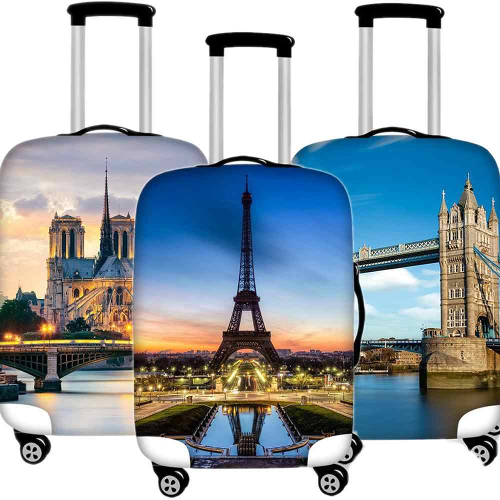 Creative Explosion Luggage Case Protective Cover Waterproof Thicken Elastic Suitcase Case Apply 18-32 Inch Travel Accessories