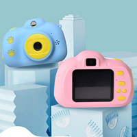Kids Digital Camera Multifunction Mini HD Camcorder Photo Video Camera Including 32G Memory Card Children Video Camera Toy Gifts