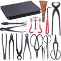 Набор инструментов для обрезки бонсай  ножницы для сада  ножницы из углеродистой стали  набор с нейлоновым чехлом для домашнего сада  инстру...