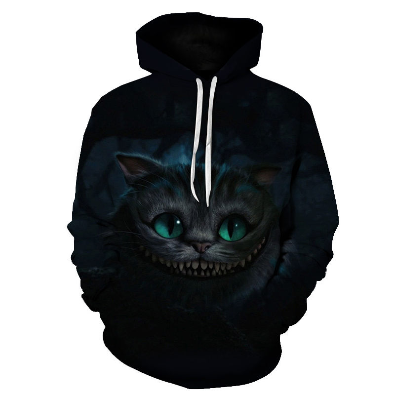 Women's Two Cat Sweatshirts Long Sleeve 3D Hoodies Sweatshirt Pullover Tops Blouse Pullover Hoodie Poleron mujer Confidante Tops 73