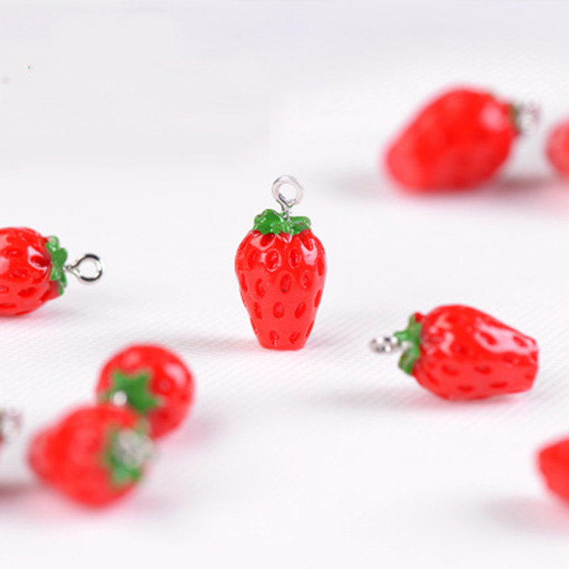 Mini Mature Strawberry Fruit Fruitage Dessert India Little Figurine Small Doll Crafts Figure Ornament Miniatures Decoration