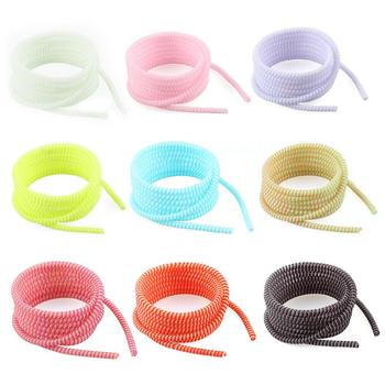 In Stock! 1.4M USB Charging Data Line Cable Protector Wire Cord Protection Wrap Cable Winder Organizer For IPhone For Xiaomi orico pb3218 cable cord organizer box for surge protection