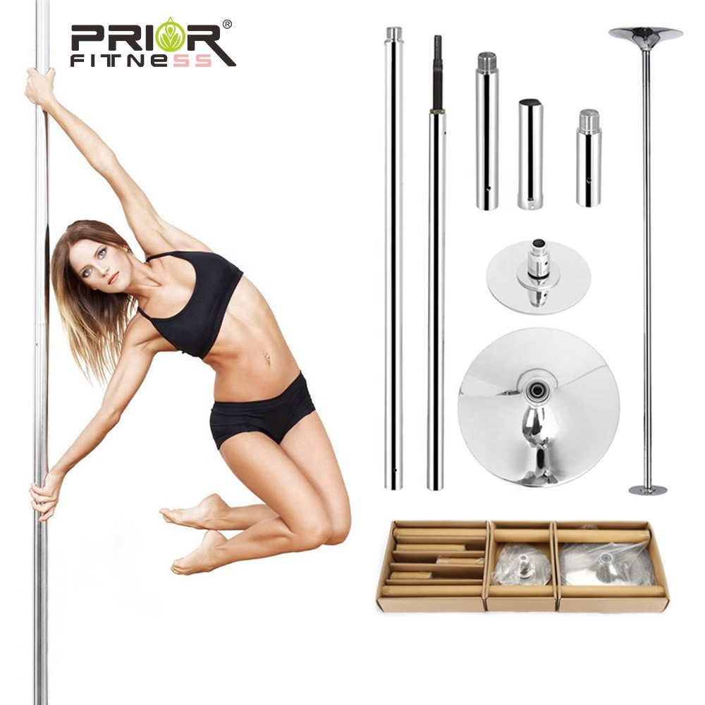 Professional New PRIOR FITNESS 45mm Removable Stripper Pole Home Dance 360 Spin Dance Training Pole Fitness Dance Sport