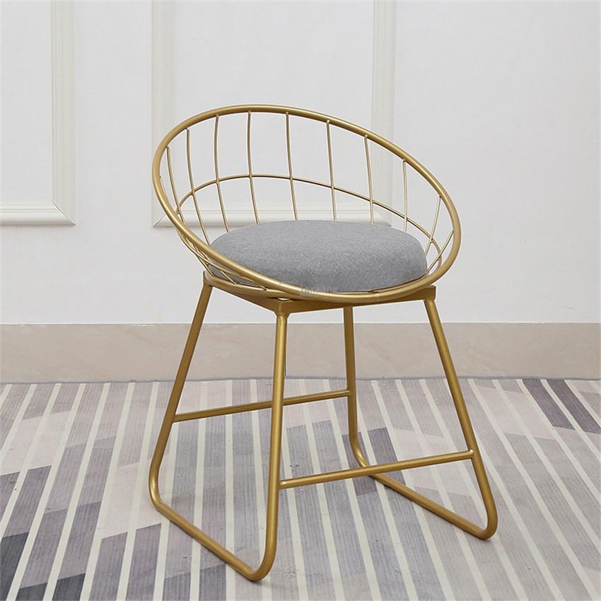 Modern Bar Stool chairs High Chair Simple Wrought Iron Bar Chair Gold Stool Modern Dining Chair Nordic Pub Accessories Leisure