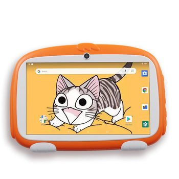 Tableta de 7 pulgadas para niños, Tablet PC con Android 9,0, 16GB, diseño bonito, aprendizaje, entretenimiento, regalo para niños