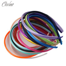 Oaoleer Hair Accessories 5 Pcs/Lot Satin Covered Headbands For Girls Solid Resin Hairband Handmade Hair Hoop for Women()