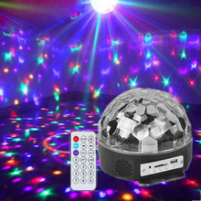RGB Premium Sound Control Stage Light LED 6LED RGB Magic Crystal Ball Lamp Disco Light Laser Wedding home Party laser цена и фото