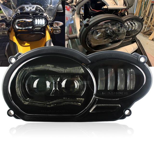 For bmw r1200gs  2005   2012 headlight Led Motorcycle light for BMW R1200GS R 1200 GS ADV 2006  2013  ( fit Oil Cooler)