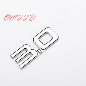 1pc 3D ABS 2.0T 2.0 3.0 emblem car-styling badge Decals for renault toyota bmw ford focus 2 car sticker funny car sticker
