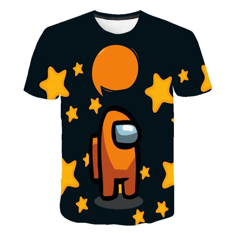 Футболка как у нас, одежда для малышей, уличная одежда в стиле Харадзюку, уличная футболка с 3d-видеоиграми, летняя футболка с мультяшным аним...