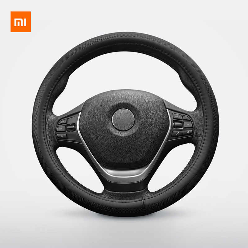 Xiaomi Youpin Maiwei steering wheel cover Sweat-absorbent breathable Whole top layer cowhide Fine hand stitching