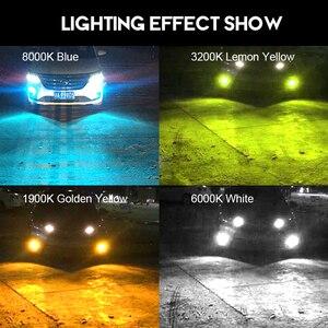 Image 2 - CNSUNNYLIGHT H11 H8 samochodowe światła przeciwmgielne LED żarówki H9 H16 9005 9006 2400Lm 6000K biały 1900K żółty 8000K niebieski Auto DRL Foglamp 2 sztuk