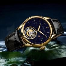 AESOP – montre-bracelet mécanique à Tourbillon, étanche 100M, or, système solaire saphir
