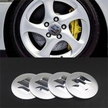 Para suzuki swift sx4 jimny ignis alto samurai baleno grand vitara 4 pçs estilo do carro de alumínio centro pneus hub tampas adesivos emblema