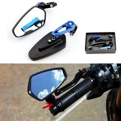 Para Handel kończy się motocykl lustro kierownica kończy lusterka lusterka boczne dla Kawasaki Z800 Z750 Z1000 Z650 Z900 Z300 w Lusterka boczne i akcesoria od Samochody i motocykle na