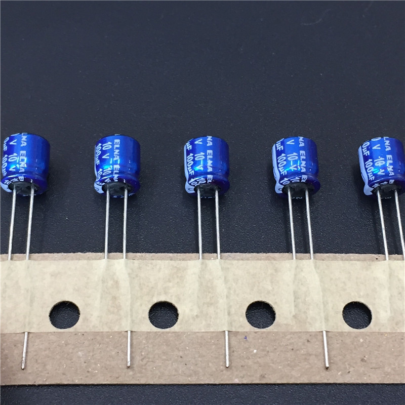 10pcs <font><b>100uF</b></font> 10V ELNA RC2 series 6.3x7mm 10V100uF Blue <font><b>Audio</b></font> capacitor image